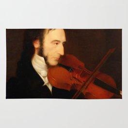 Niccolò Paganini by Daniel Maclise (1831) Rug