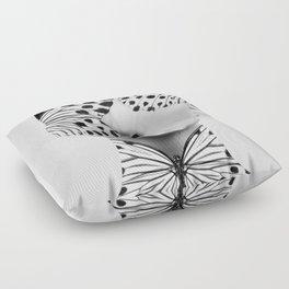 Woman Butterfly Floor Pillow
