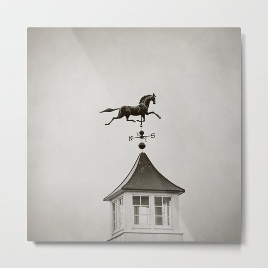 Horse Weathervane Metal Print