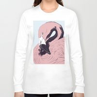 flamingo Long Sleeve T-shirts featuring Flamingo by CranioDsgn