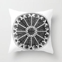 Rose window Throw Pillow
