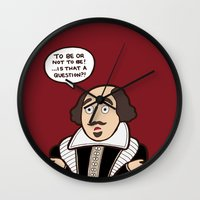 shakespeare Wall Clocks featuring Shakespeare by evannave