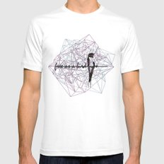 free as a bird Mens Fitted Tee White MEDIUM