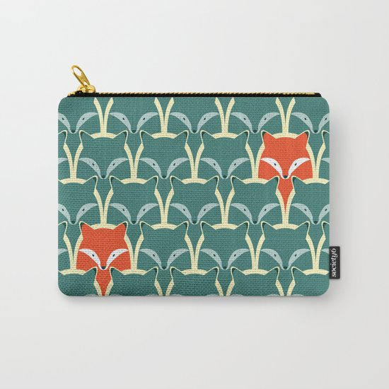 Seamless pattern with foxes and wolves Carry-All Pouch