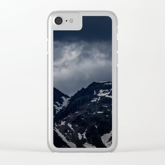 Dark Mountain mood Clear iPhone Case