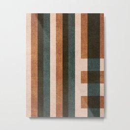 ABSTRACT ALPHABET / Decorative L Metal Print