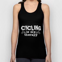 Cycling Therapy | Cyclist Biker Biking BMX Sports Unisex Tank Top