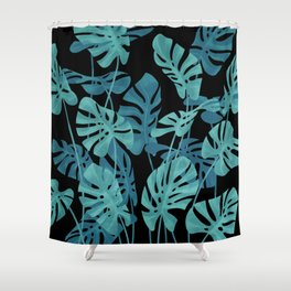Graphic Monstera leaves. Shower Curtain