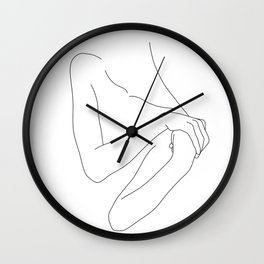 Figure line drawing illustration - Jess Wall Clock