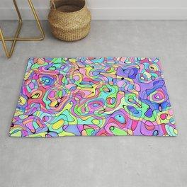 Trippy Rainbow Rug
