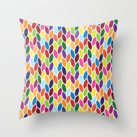 diamonds Throw Pillows featuring Diamonds by Wharton