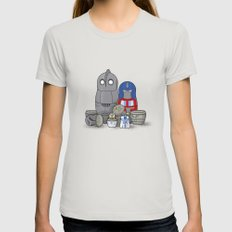 Nesting bots MEDIUM Womens Fitted Tee Silver