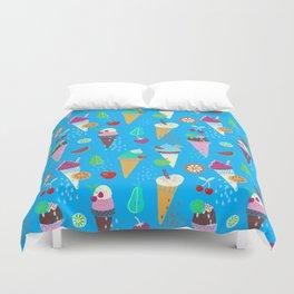 Ice Cream Fruity Pattern Duvet Cover
