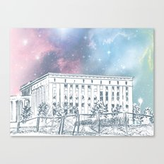 Until The Daylight - Berlin Comic - Piece 1 Canvas Print
