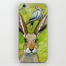 Funny bunnies-thoughts of love 836 iPhone & iPod Skin