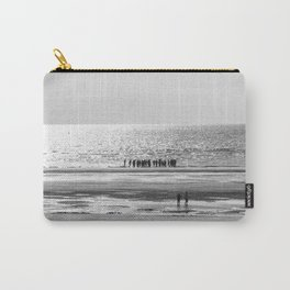 Beach black white 5 Carry-All Pouch