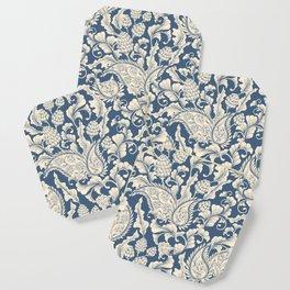 Vintage & Shabby Chic - William Morris Classic Blue Antique Floral Coaster