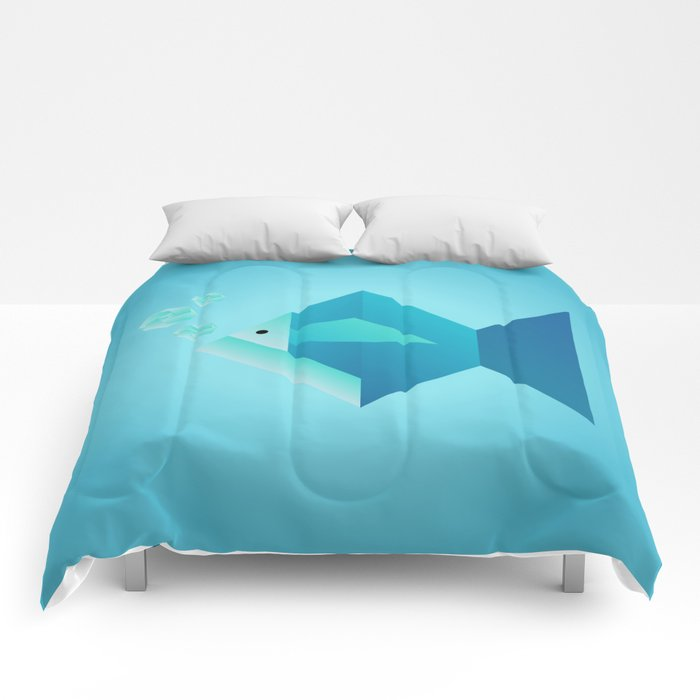 Origami Fish Comforters