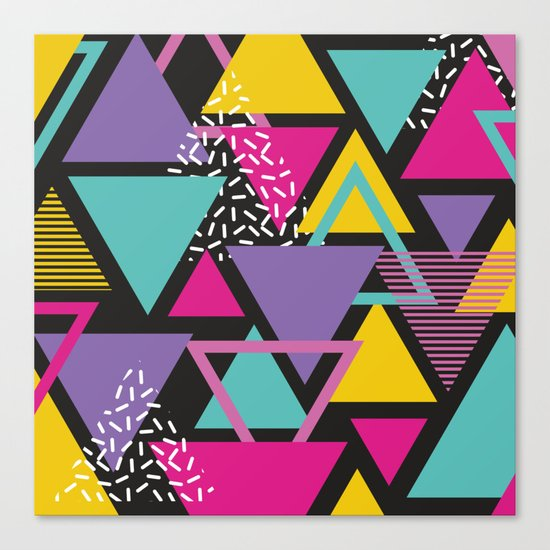 Back To The 80's Pattern Canvas Print