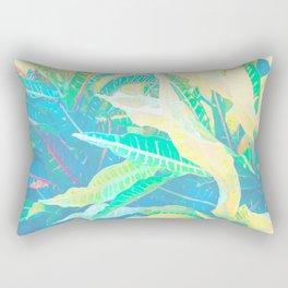 Tropical Croton Leaves 3 Rectangular Pillow