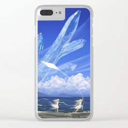 Crystal world Clear iPhone Case