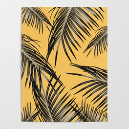 Black Palm Leaves Dream #6 #tropical #decor #art #society6 Poster