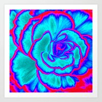 neon Art Prints featuring Neon by Dawn East Sider