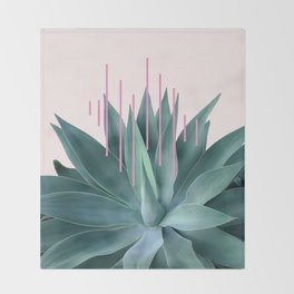 Agave geometrics II - pink Throw Blanket