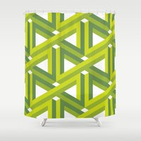 illusion Shower Curtains featuring Illusion by Isometric
