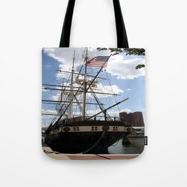 Old Glory - USS Constellation Tote Bag