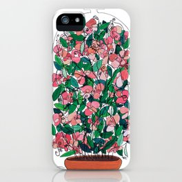 """Capacity""/Lathyrus odoratus - part of the Bell Jar series iPhone Case"