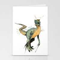 dinosaur Stationery Cards featuring Dinosaur by Nicola Girello