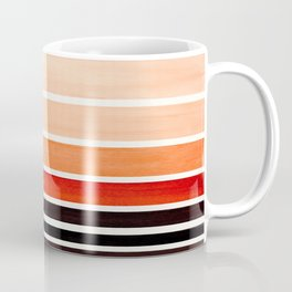 Burnt Sienna Minimalist Mid Century Modern Color Fields Ombre Watercolor Staggered Squares Coffee Mug