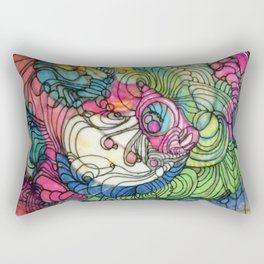 Pink v Blue Rectangular Pillow