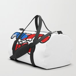Puerto Rico Font with Puerto Rican Flag Duffle Bag