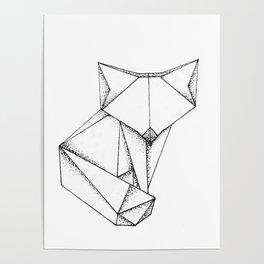 Origami Fox Poster