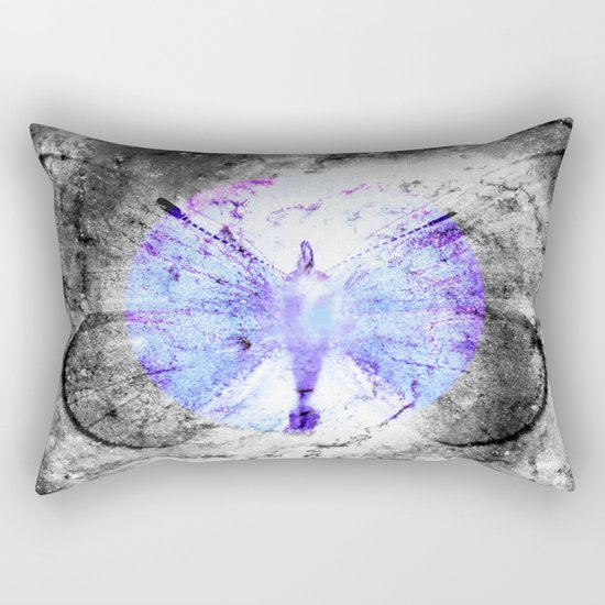 Celestial Butterfly Pop of Color Periwinkle Rectangular Pillow