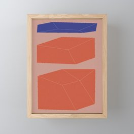 Minimal Geometry No. 9 Framed Mini Art Print
