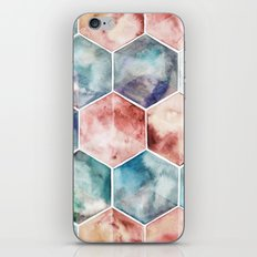 Earth and Sky Hexagon Watercolor iPhone & iPod Skin