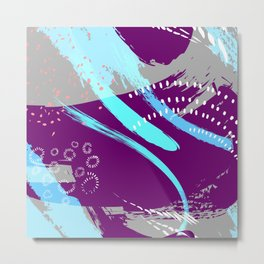 Violet blue splash Metal Print
