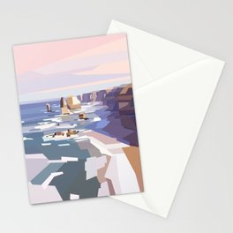 Geometric Great Ocean Road Stationery Cards