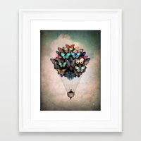 butterflies Framed Art Prints featuring Dream On by Christian Schloe
