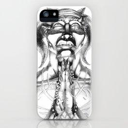 Prayer (Pencil) iPhone Case