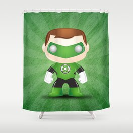 Green Lantern Superhero Shower Curtain