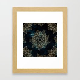 Modern Night Mandala Framed Art Print