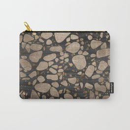 Terrazzo - Mosaic - Wooden texture and gold #2 Carry-All Pouch