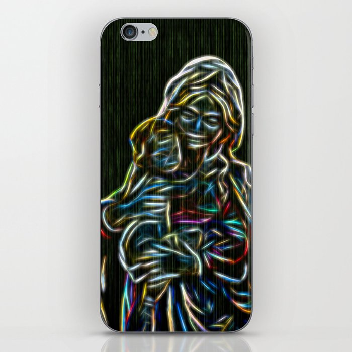 Mother and child neon glow - by Brian Vegas iPhone Skin