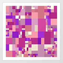 violet and pink mosaic Art Print
