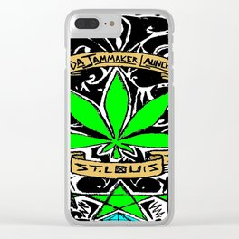 Weed & Diamonds Clear iPhone Case
