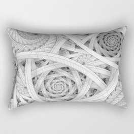 GET LOST - Black and White Spiral Rectangular Pillow